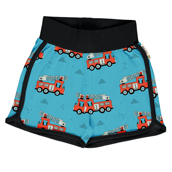 Meyadey shorts van biokatoen met brandweerwagens
