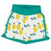Meyadey witte shorts van biokatoen met citroenen