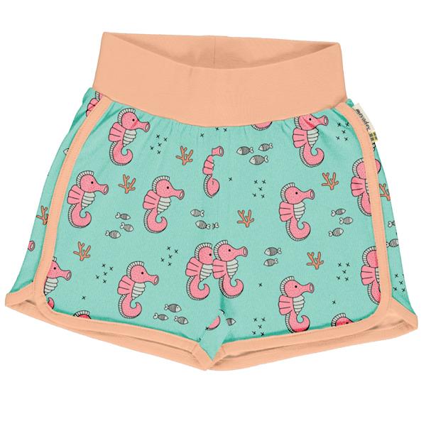 Meyadey shorts van biokatoen met zeepaardjes