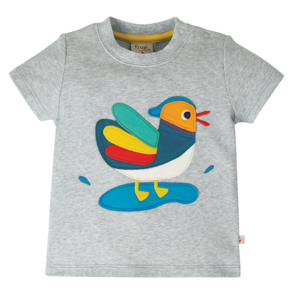 T-shirt met een mandarijneend