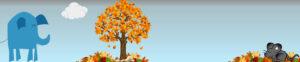 Header herfst Olifant en Muis