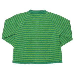Groen gebreid vest met egeltjes