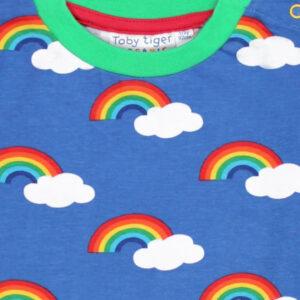 TOBY TIGER Pyjama van biokatoen met regenbogen