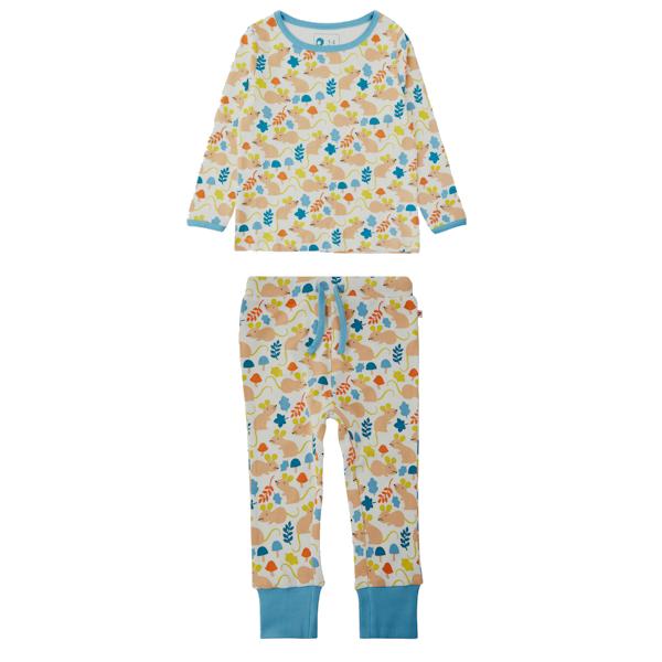 PICCALILLY Witte pyjama met veldmuisjes