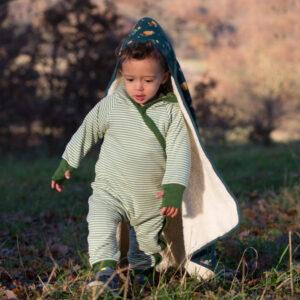 Baby buitenpakje biokatoen met schaapjes