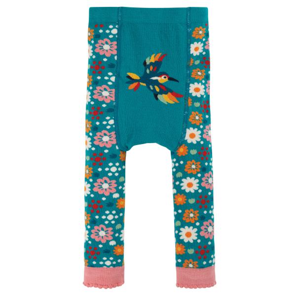 FRUGI Gebreide legging met bloemen