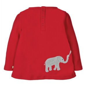 FRUGI Rood shirt met olifantjes