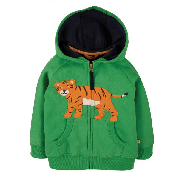 FRUGI Hoodie met tijgertje